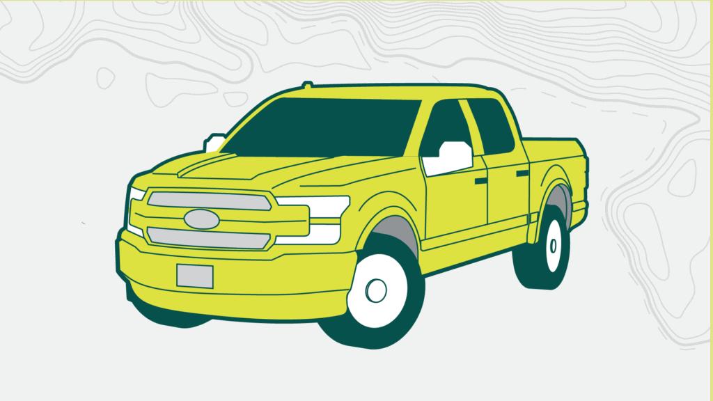 Fulls-size truck illustration